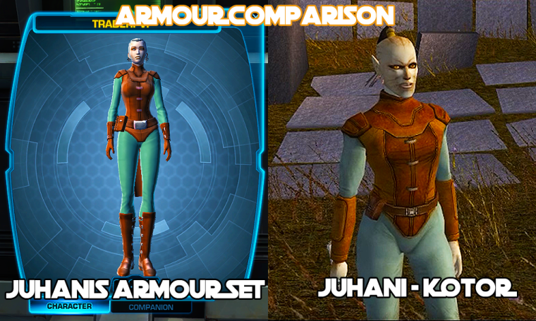 JUHANI ARMOUR SET COMPARISON