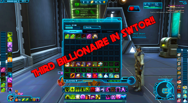 THIRD BILLIONAIRE IN SWTOR