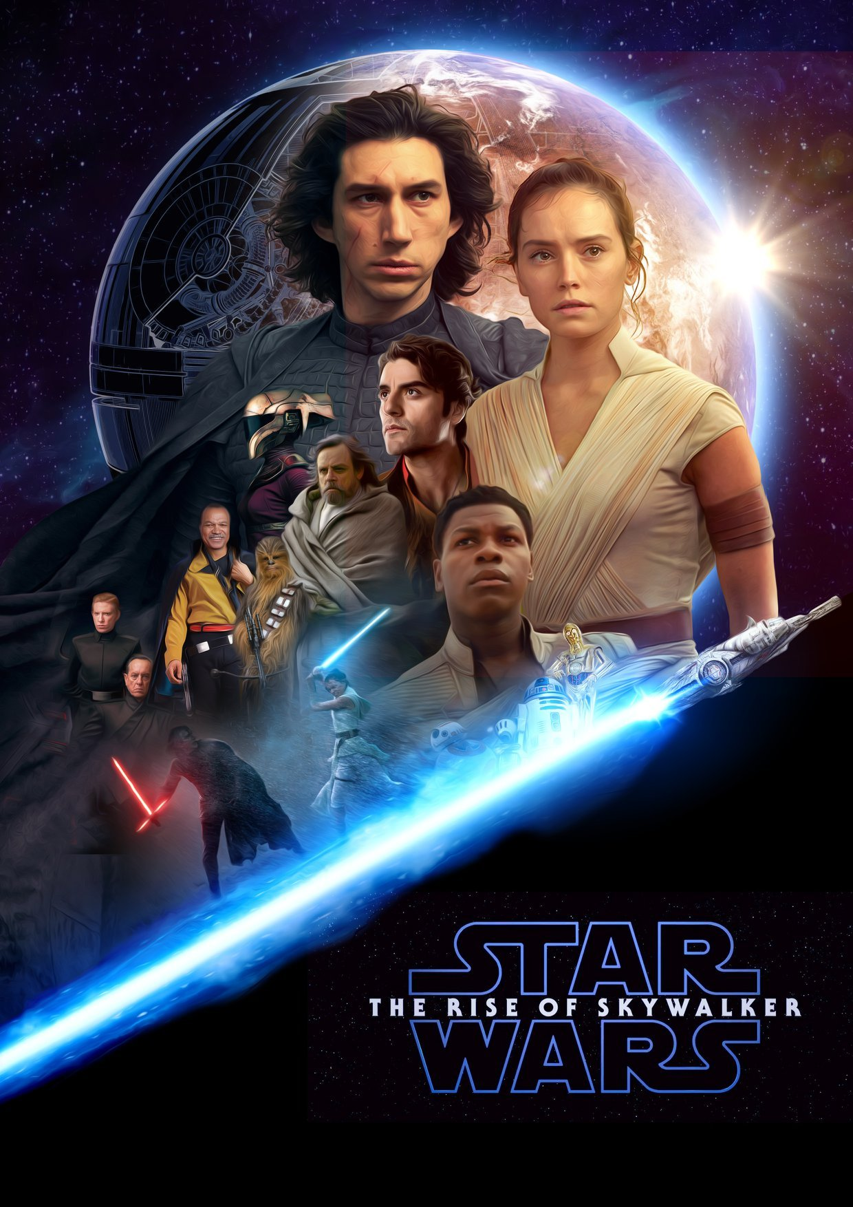 Star Wars The Rise Of Skywalker Fan Made Poster Darkside Creative