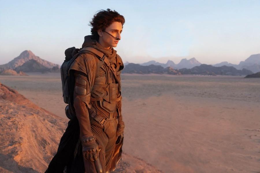Timothee Chalamet as Paul Atreides in Dune