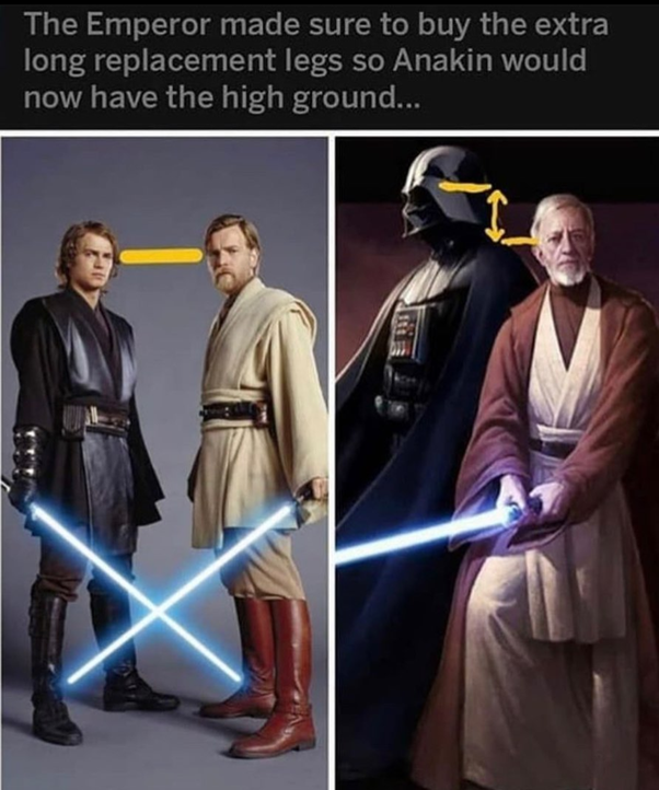 Vader Taller than Anakin