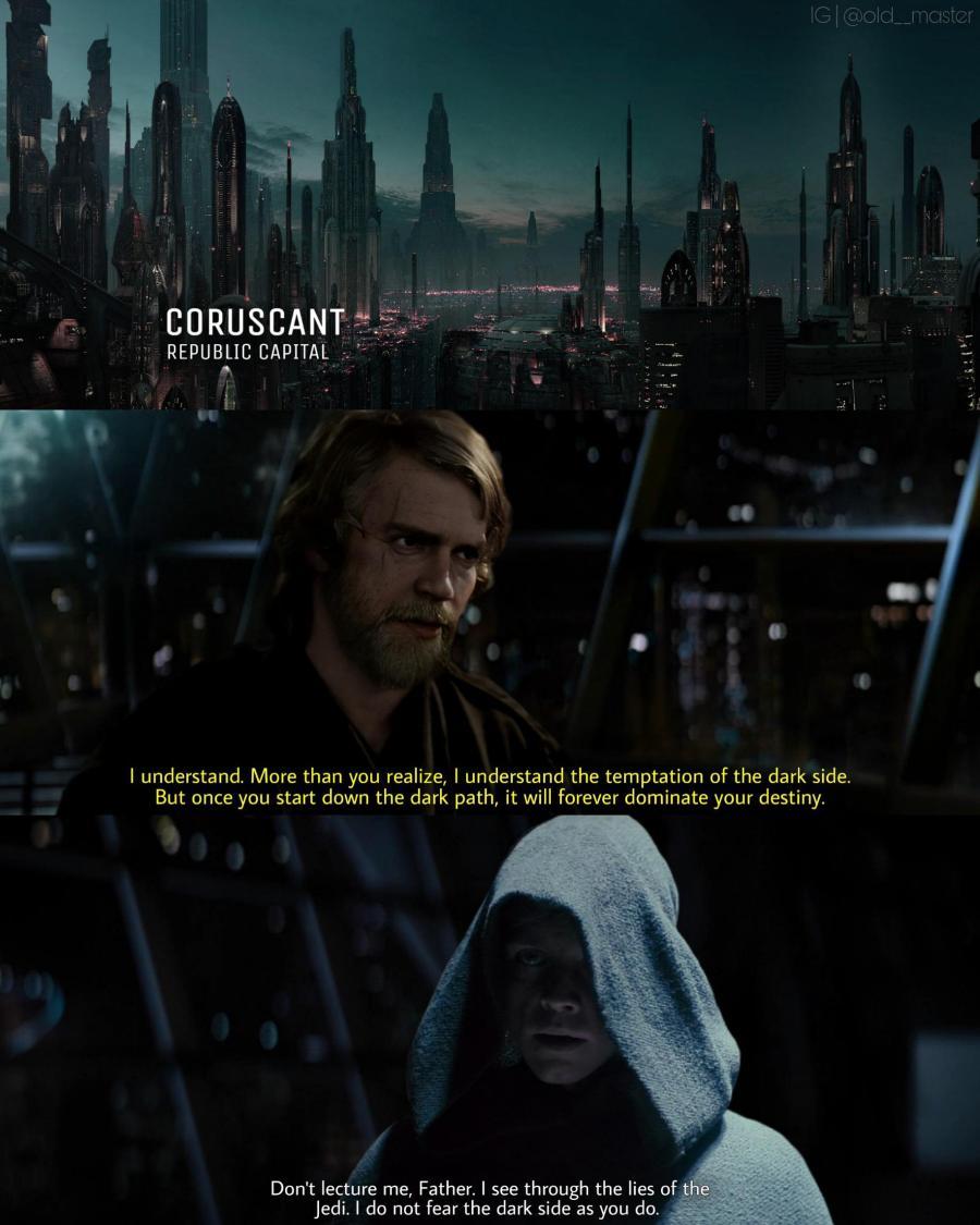 Light Side Anakin Dark Side Luke