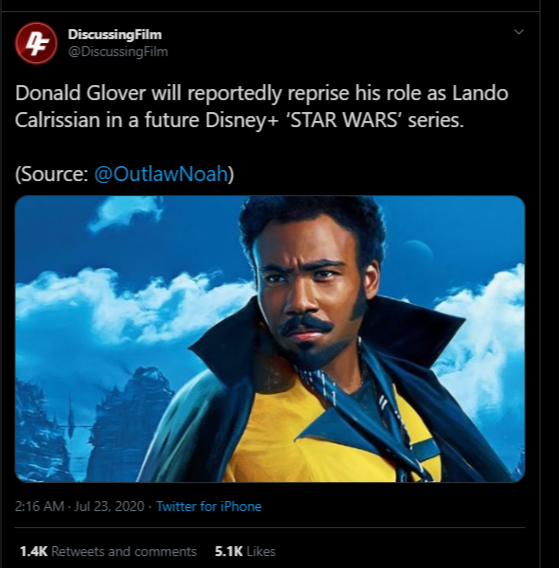 Lando Calrissian Played by